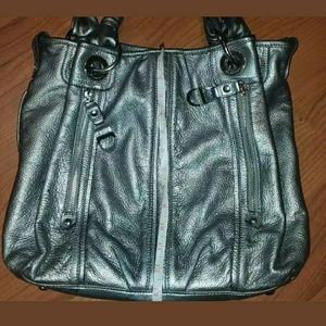 b. makowsky Bags - B.Makowsky mettalic front zip pocket divider tote